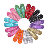 Glitter Shiny Glazed Snap Hair Clips