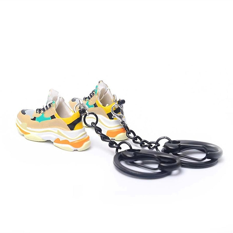 Handcraft 3D Mini Sneaker Keychains - Pair