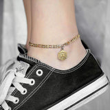 Hexagon Initial Anklet