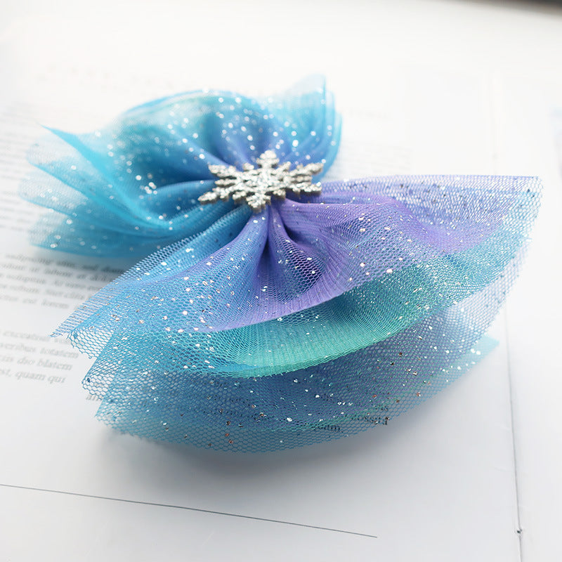 Lace Snow Hair Bow