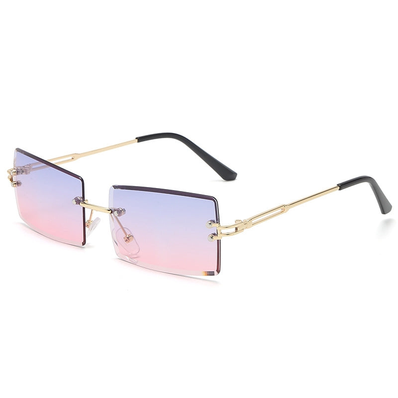 Rimless Small Rectangle Sunglasses