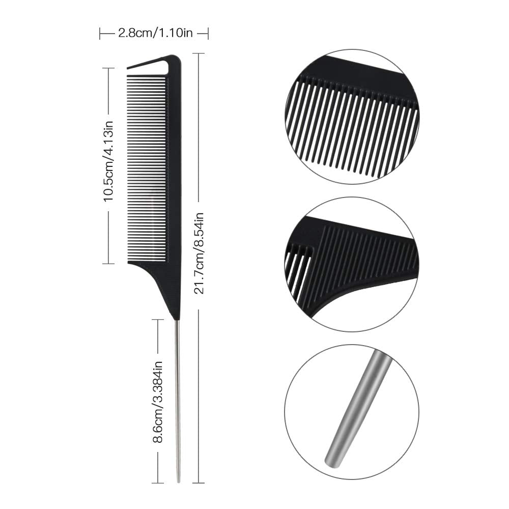 Clearance Steel Rat Tail Parting Comb