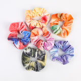 Tie Dye Velvet Scrunchies - Set of 6