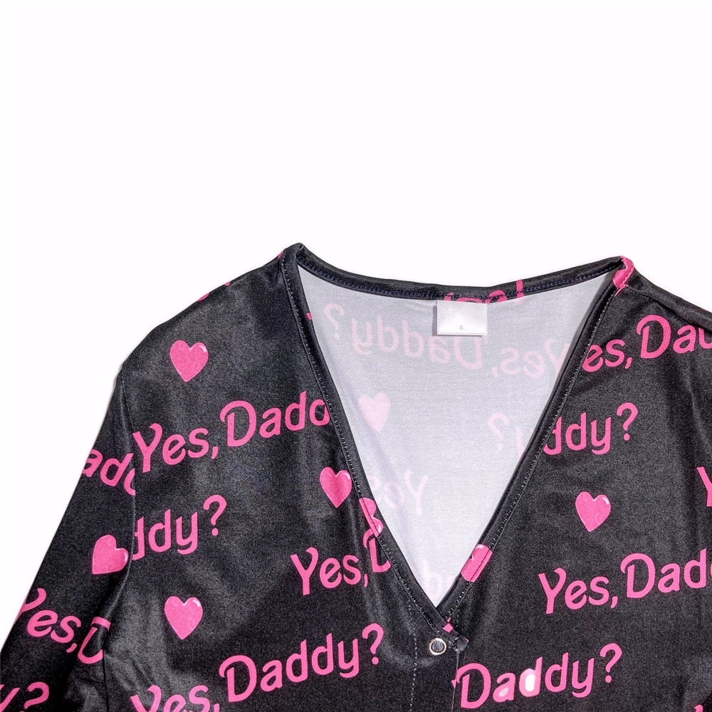 Yes Daddy Pajama Onesie