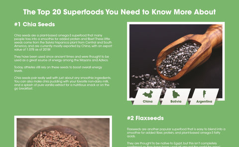 super foods infographic