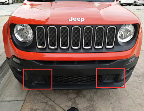 2015 up jeep renegade behind lower grille led light bar kit install step 2 remove your lower bumper grille unscrew the bolts using a small torx head screwdriver