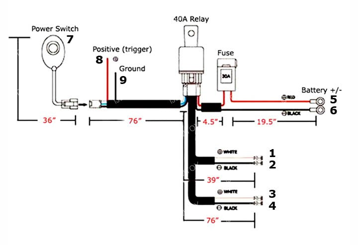 general installation guide for wiring relay harness with on off Single LED Wiring
