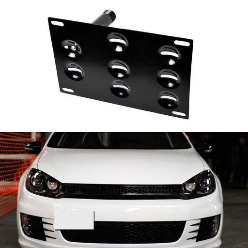 No Drill Front Bumper Tow Hook License Plate Mounting Bracket Adapter Kit for Volkswagen VW MK5 MK6 Golf GTI EOS, Audi TT etc-iJDMTOY