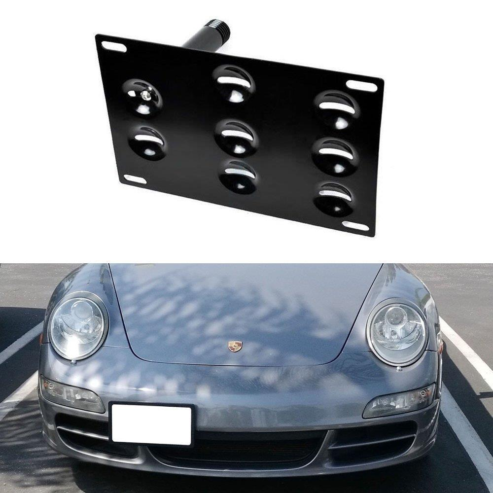 Front Bumper Tow Hook License Plate Mounting Bracket For Porsche Macan 2015 2016