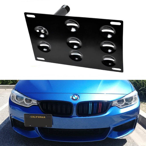No Drill Front Bumper Tow Hook License Plate Mounting Bracket Adapter Kit for BMW F30 F31 F32 F34 F10 G30 G31 3 4 5 Series E84 X1 etc-iJDMTOY