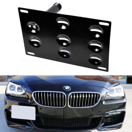 No Drill Front Bumper Tow Hook License Plate Mounting Bracket Adapter Kit for 2011-up BMW F12 F13 F06 640i 650i or 6 Series Gran Coupe-iJDMTOY