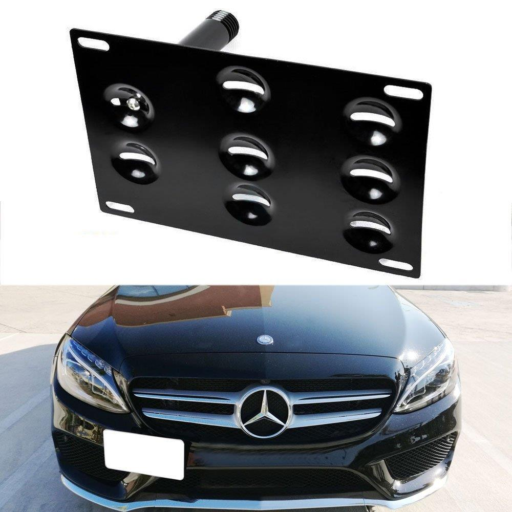 I-Match Auto Parts Front License Plate Bracket Tag Holder Replacement for 2016-2018 MERCEDES GLE350 MB1068145 2928851081 BLACK TEXTURED