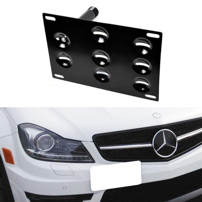 No Drill Front Bumper Tow Hook License Plate Mounting Bracket Adapter Kit  for Mercedes W204 C-Class W221 S-Class W166 ML-Class etc