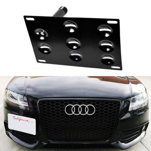 No Drill Front Bumper Tow Hook License Plate Mounting Bracket Adapter Kit for Audi A4 A5 A7 S4 S5 S7 RS5 RS7 etc-iJDMTOY