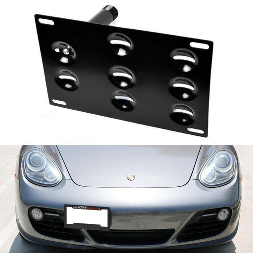 No Drill Front Bumper Tow Hook License Plate Mounting Bracket Adapter Kit for 2nd Gen 06-13 Porsche Cayman, 05-12 Boxster 987-iJDMTOY