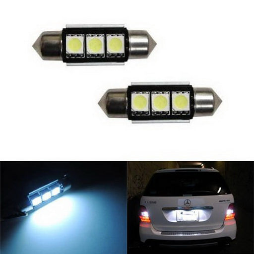"Error Free 3-SMD-5050 1.50"" 36mm 6411 6418 C5W LED Bulbs w/ Built-in Load Resistors For European Cars-iJDMTOY"