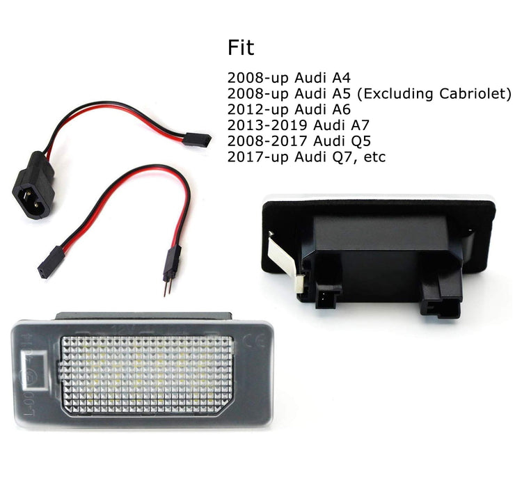 Audi A4 A5 A6 A7 S7 RS4 RS5 RS7 Q5 Q7 LED License Plate