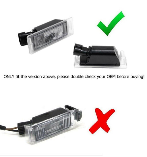 OEM-Fit 3W Full LED License Plate Light Kit For Chevrolet Camaro Corvette SS Equinox Impala Volt, Cadillac ATS CTS SRX XTS ELR, Powered by 18-SMD Xenon White LED & Can-bus Error Free-iJDMTOY