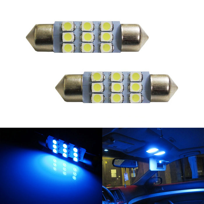 "9-SMD-1210 1.25"" 31mm, 1.5"" 36mm or 1.72"" 42mm Festoon Dome LED Bulbs-iJDMTOY"