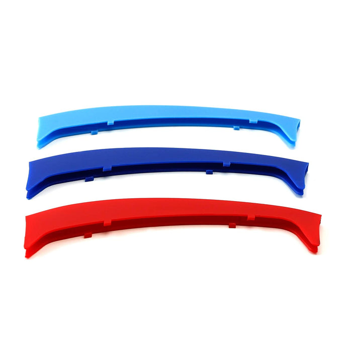 Exact Fit ///M-Colored Grille Insert Trims For 1999-2001 BMW E46 Pre-LCI 3 Series 4-Door Sedan 320i 323i 325i 328i 330i with 10-Beam ONLY-iJDMTOY