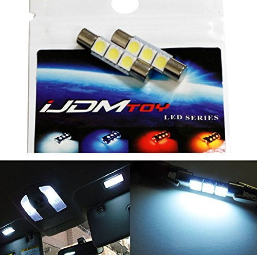 D29mm F30-WHP Fuse Type 6614F Sun Visor Vanity Mirror 5050 3-SMD LED light bulbs-iJDMTOY