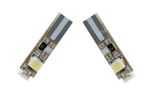 3-SMD-1210 T5 (aka T4) LED Wedge Bulbs 37 73 74 79 For Gauge Cluster Dashboard Background Lights-iJDMTOY
