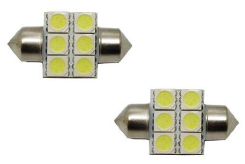 "6-SMD-5050 1.25"" 31mm, 1.5"" 36mm or 1.72"" 42mm Festoon LED Bulbs-iJDMTOY"
