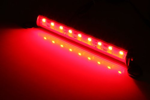 (1) Universal Fit White/Red 18-SMD LED Lamp For License Plate Lights, Backup Lights and Brake or Rear Fog Lights-iJDMTOY