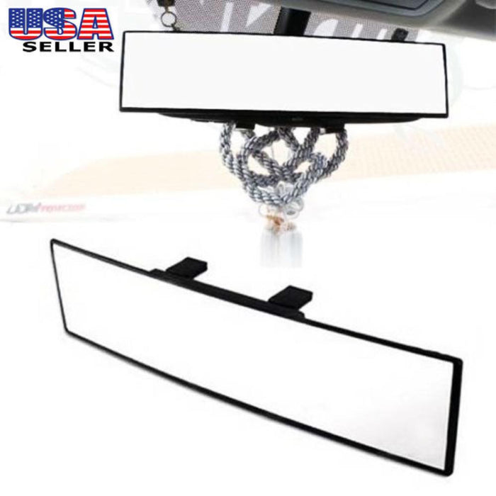 "Universal Fit JDM 300mm 12"" Wide Clip On Rear View Mirror For Car SUV Van Truck, etc-iJDMTOY"