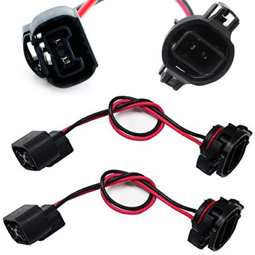 5202 H16 Extension Wire Harness Sockets For Headlights, Fog Lights Retrofit Work Use-iJDMTOY
