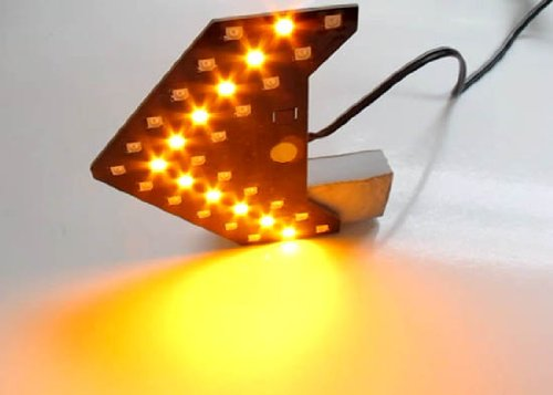Sequential Flashing 33-SMD Side Mirror <<< LED Turn Signal Arrows, Amber Yellow or Red-iJDMTOY