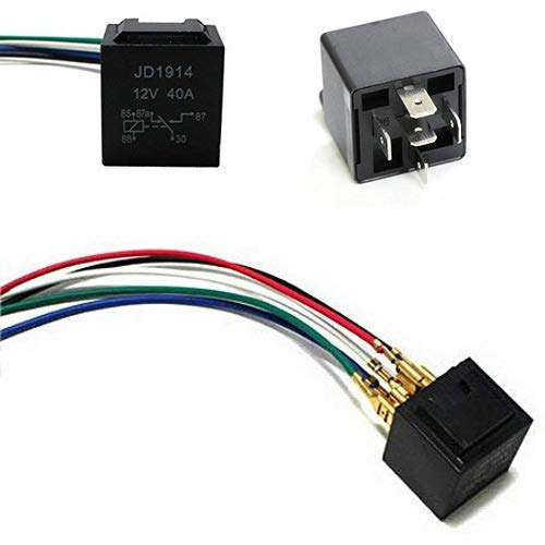 with wiring harness socket relay. General-purpose relay suitable for automobiles and ships 30A 5-pin waterproof automotive relay 【MingGang】1 PACK 12V 40