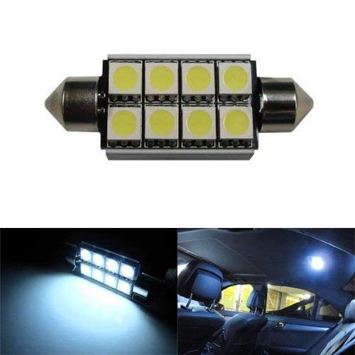 Error Free 8-SMD 42mm 6411 578 211-2 LED Bulb w/ Built-in Load Resistors For European Cars-iJDMTOY