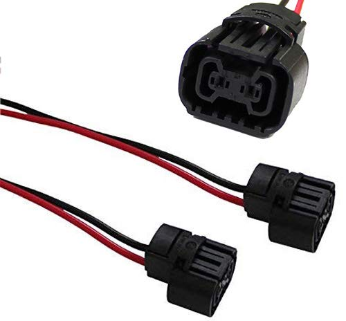5202 2504 PS24W Bulbs Female Connector Wiring Pigtail Harnesses For Fog Lights/Daytime Running Lamps-iJDMTOY