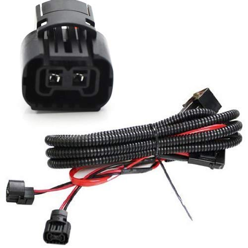 5202 h16 2504 ps24w adapter fog lights relay wiring harness for chevy dodge  gmc ford etc