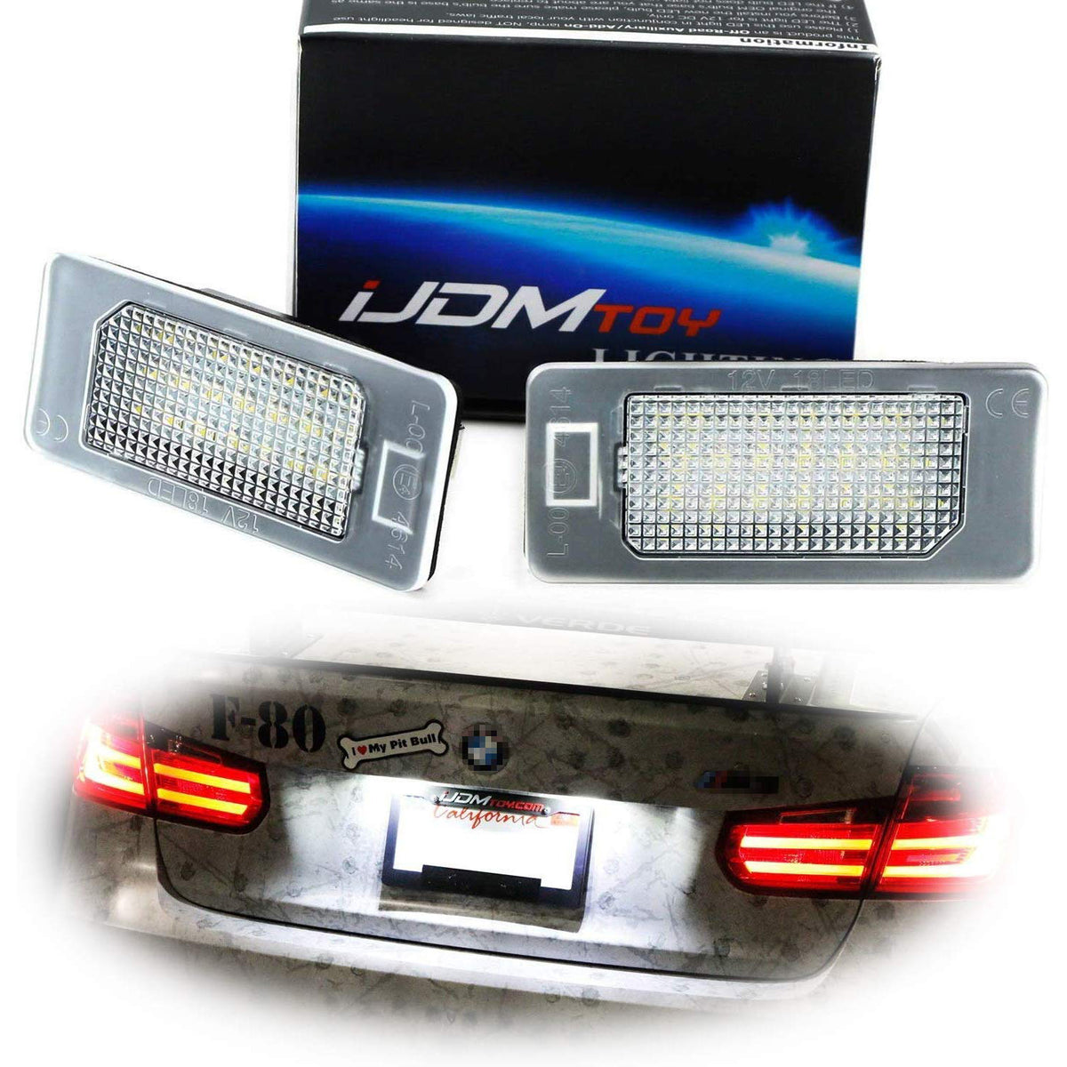 For BMW 3 Series E91 Green 4-LED Xenon Bright Side Light Beam Bulbs Pair Upgrade