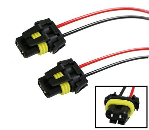 900-Series 9005 9006 Female Adapter Wiring Harness Sockets Wire For Headlights Fog Lights-iJDMTOY