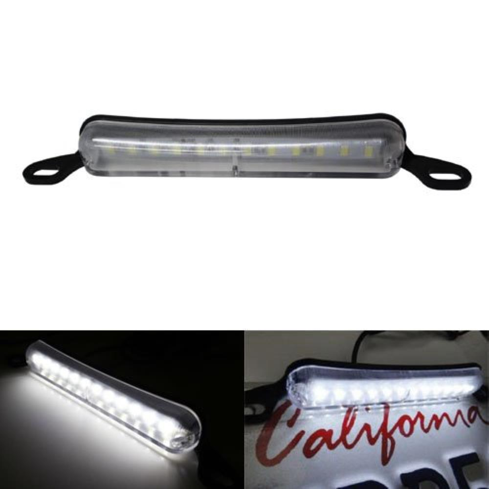 Universal Fit Bolt-On To License Plate Frame 12-SMD Xenon White LED License Plate Illumination Light Lamp-iJDMTOY
