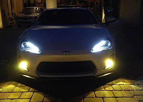 JDM Selective Yellow/Gold 80W CREE High Power H7 H11 9006 5202 P13W LED Replacement Bulbs For Fog Lights, Driving Lights-iJDMTOY