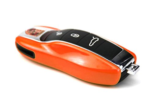iJDMTOY etc 1 Exact Fit Gloss Metallic Orange Smart Remote Key Fob Shell For Porsche Cayenne Panamera Macan 911