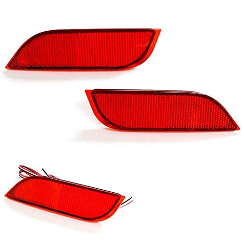 Red or Smoked Lens 26-SMD LED Bumper Reflector Lights For Subaru 2008-14 WRX/STI, 08-up Impreza, 13-up XV Crosstrek, Function as Rear Fog , Tail/Brake Lamps-iJDMTOY