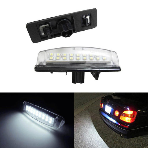 OEM-Fit 3W Full LED License Plate Light Kit For Lexus IS300 GS300 GS400 GS430 ES300 ES330 RX330 RX350 Toyota Prius, Powered by 18-SMD Xenon White LED-iJDMTOY