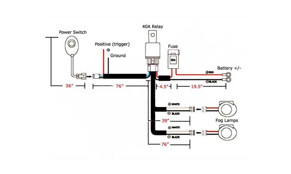 9005 9006 H10 Relay Harness Wire w/ LED Light ON/OFF Switch — iJDMTOY.com | Driving Lights Relay Switch Wiring Diagram |  | iJDMTOY.com