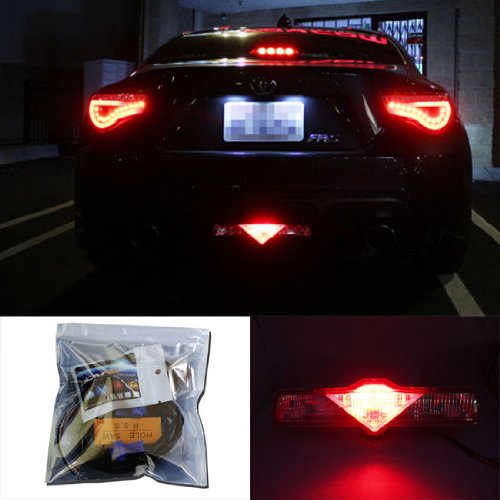 Super Red 3rd LED Brake Light DIY Conversion Kit For Scion FR-S tC Subaru BRZ Toyota 86 Nissan 370Z Juke and more-iJDMTOY