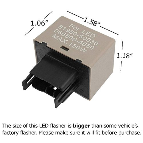 License Plate Scanner >> 8-Pin 81980-50030 066500-4650 Electronic LED Flasher Relay ...