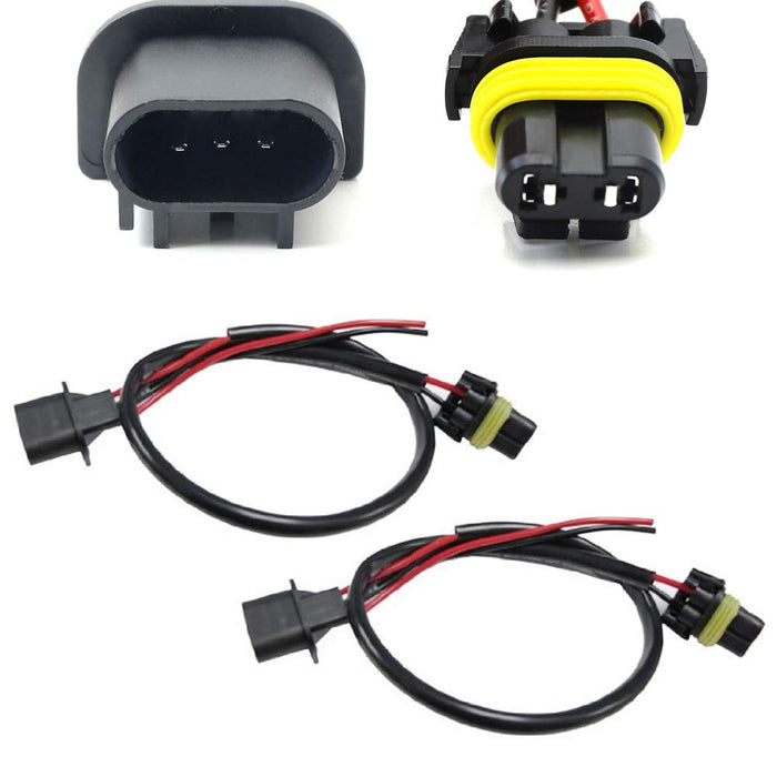H13 9008 Wire Harness for Xenon Ballast to Stock Socket for Xenon Headlight Kit-iJDMTOY