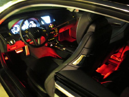 "4-Piece 12"" 7-Color RGB LED Lighting Kit For Car Interior Decoration w/ Remote Control-iJDMTOY"