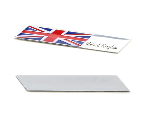 Aluminum Plate UK Flag Emblem Badge For UK Car Front Grille, Side Fenders, Trunk, Dashboard Steering Wheel, etc-iJDMTOY