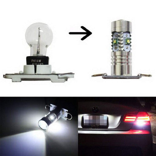 PW16W PH16W LED Backup Reverse Light Bulbs For 11-13 BMW E92 328i 335i, M3 LCI & 10-up Audi A7 S7 RS7, Powered By 25W CREE LED Diodes-iJDMTOY