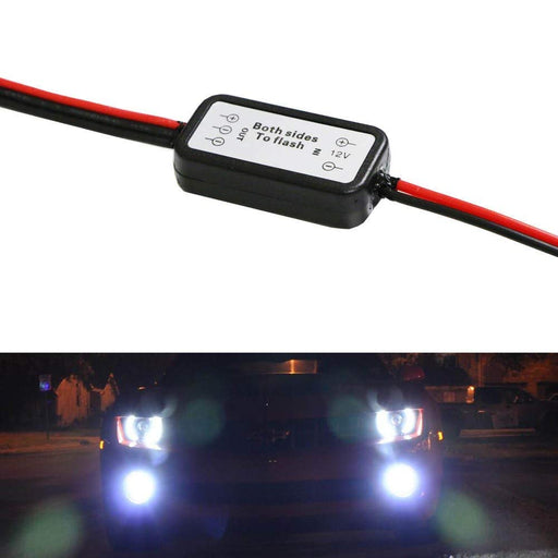 Alternating Left/Right Strobe Flash Module Box For Car Fog Lights, LED Daytime Running Lights, Work Lights and more-iJDMTOY